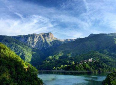 Panorama sul Lago di Vagli
